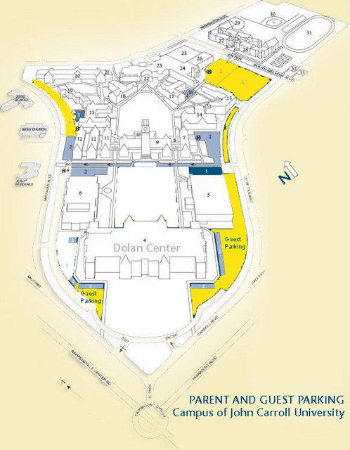 John Carroll University Campus Map.The Hammer Ergatta