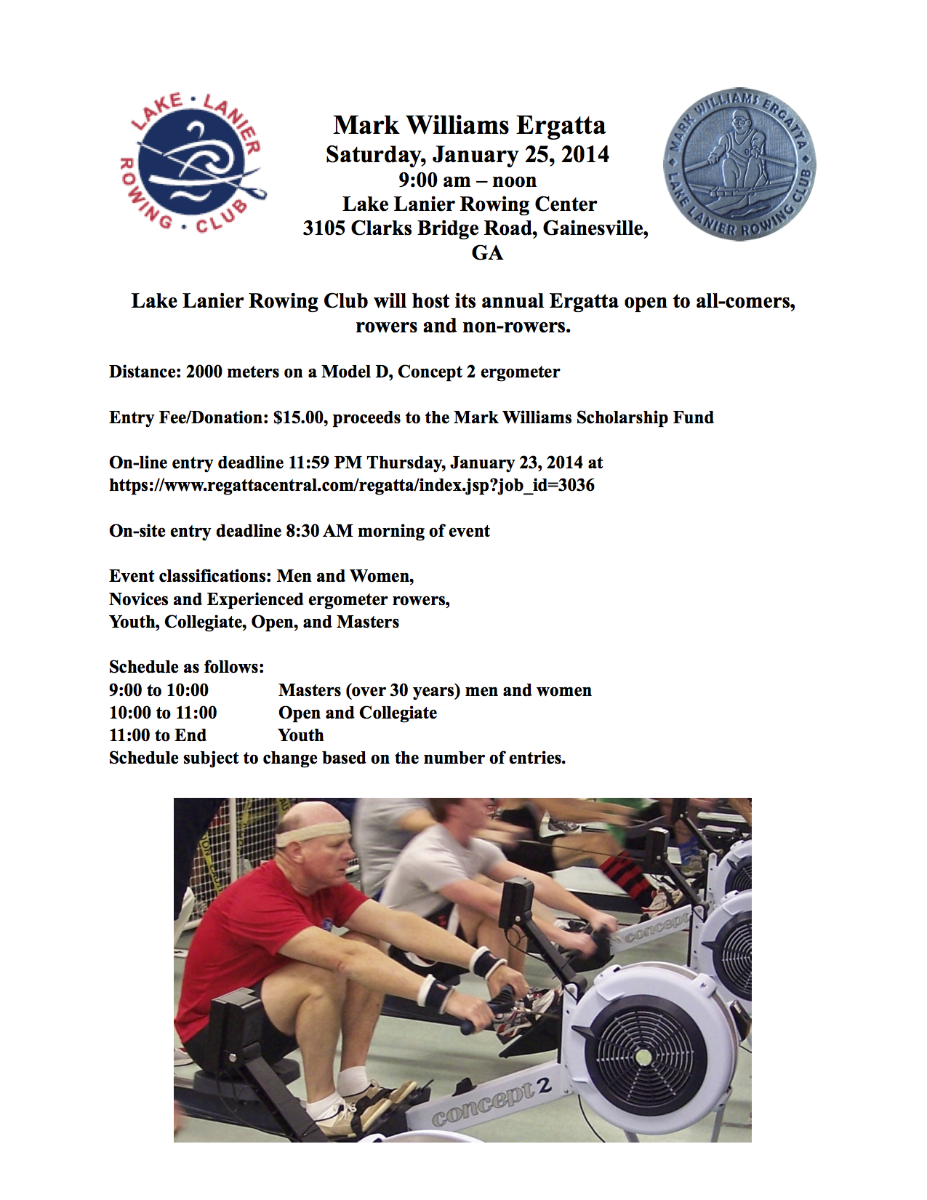 Announcement for 2014 Mark williams Ergatta