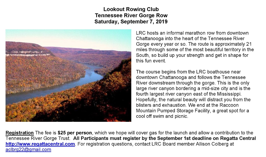 TN River Gorge Row - Overview