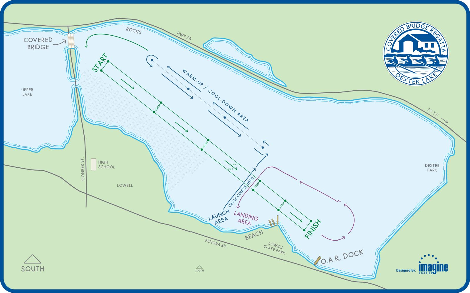 Lowell Oregon Map.Collegiate Covered Bridge Regatta